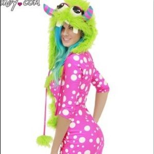 Yandy Dresses - Pink Polka Dot Monster Costume